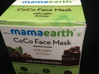 Mamaearth Coco Face Mask With Coffee & Cocoa pic 1-The exotic Experience-By aarushine