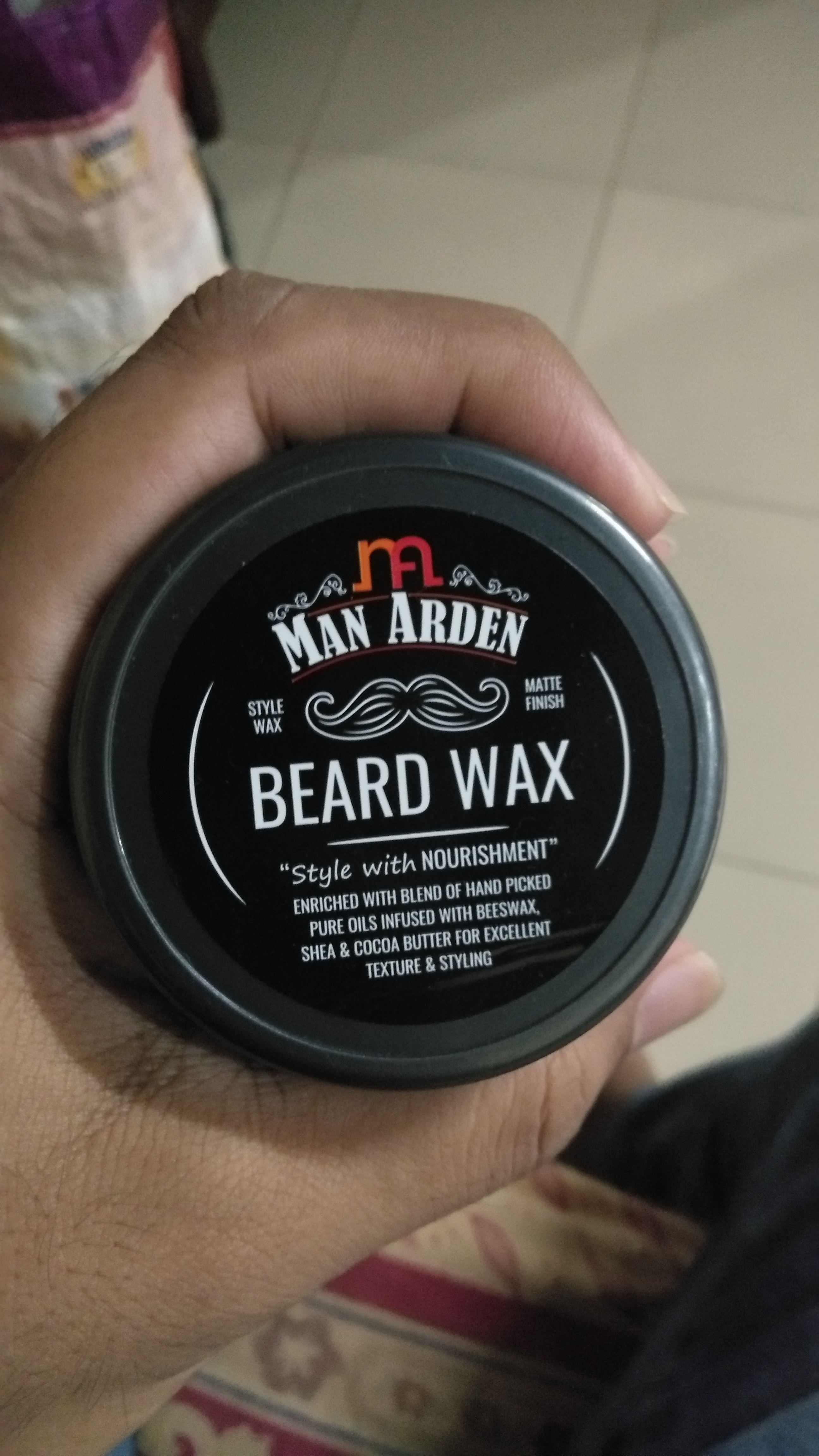 Man Arden Beard Wax – Strong Hold with Matte Finish-Gives shape to your beard-By pravinrane-2