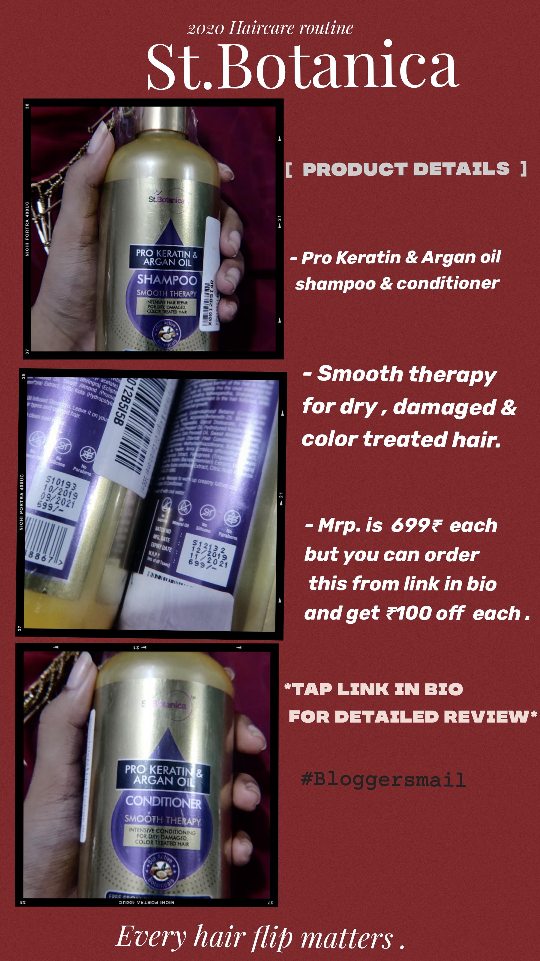 St.Botanica Pro Keratin & Argan Oil Shampoo-Average shampoo-By vaishvita-1
