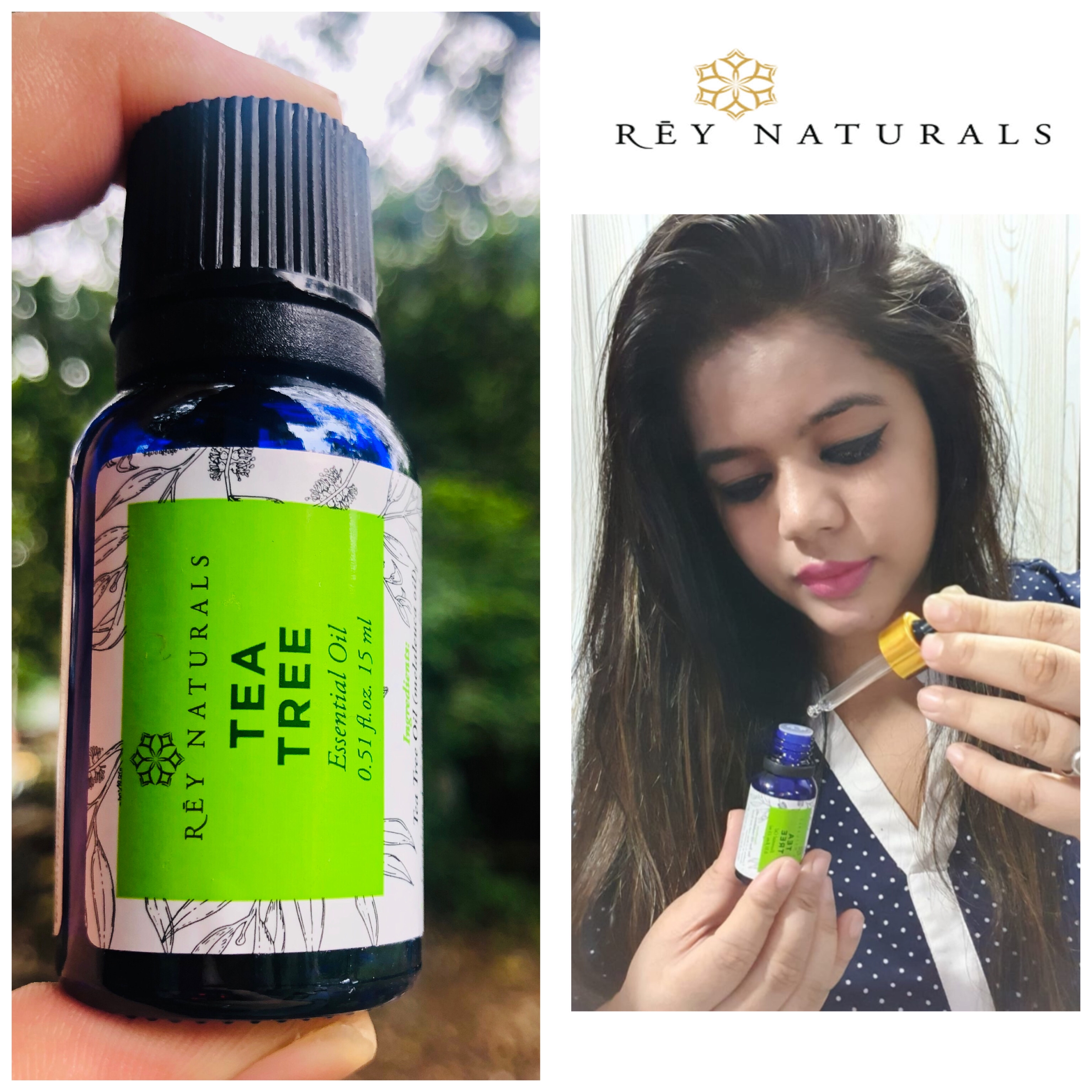 Rey Naturals Tea Tree Essential Oil-Works wonder for skin and hair-By rupalimehra186-1