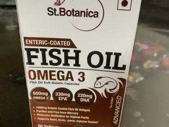 St.Botanica Salmon Fish Oil 1000mg; 300mg Omega-3 with 180mg EPA, 120mg DHA – 60 Enteric Coated Softgels pic 2-Good omega-3 supplement-By tanvijalan
