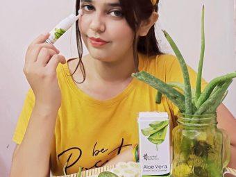 Oriental Botanics Aloe Vera Green Tea & Cucumber Under Eye Gel pic 2-best product for dark circles-By pinky_chandwani