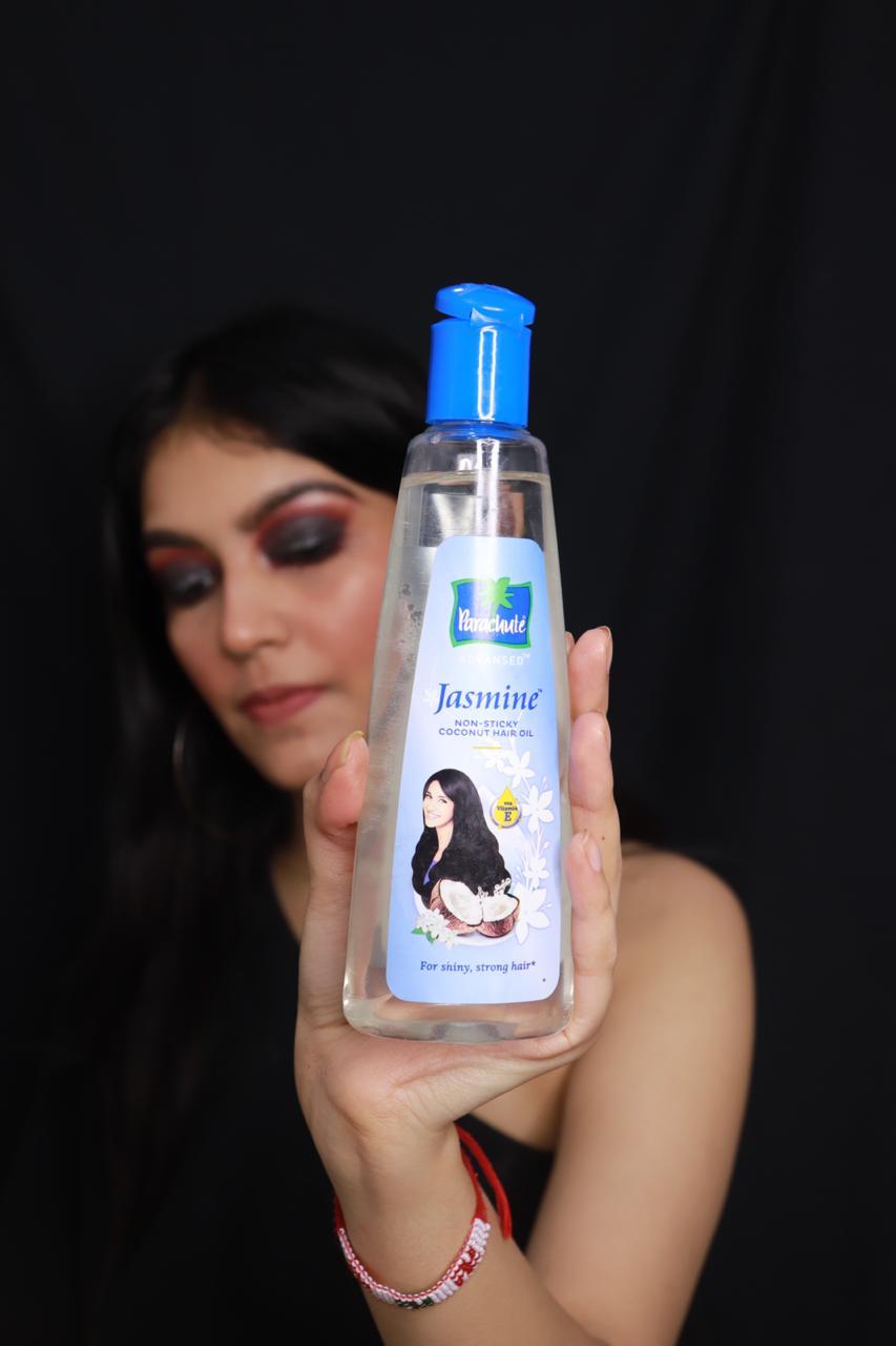 Parachute Advansed Jasmine Hair Oil -shiny strong hair-By srishty