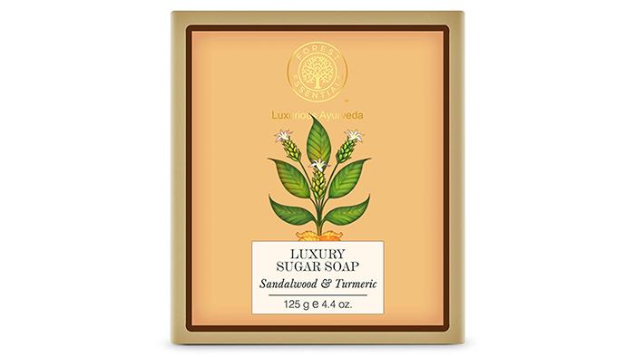 Forest Essentials Sandalwood & Turmeric Luxury Sugar Soap
