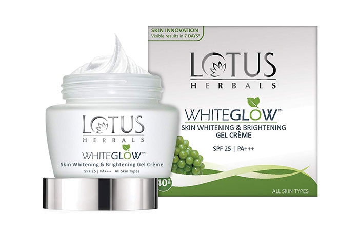 Lotus Herbals Whiteglow Skin Whitening And Brightening Gel Cream