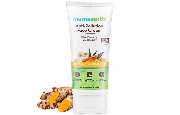 Mamaearth Anti-Pollution Daily Face Cream for Dry & Oily Skin with Turmeric