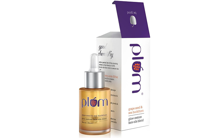 Plum Grape Seed & Sea Buckthorn Glow-Restore Face Oils Blend