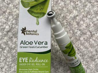 Oriental Botanics Aloe Vera, Green Tea & Cucumber Under Eye Gel Roll-On pic 2-Must Buy for Undereye Drakness-By seporah_michelle_alvares