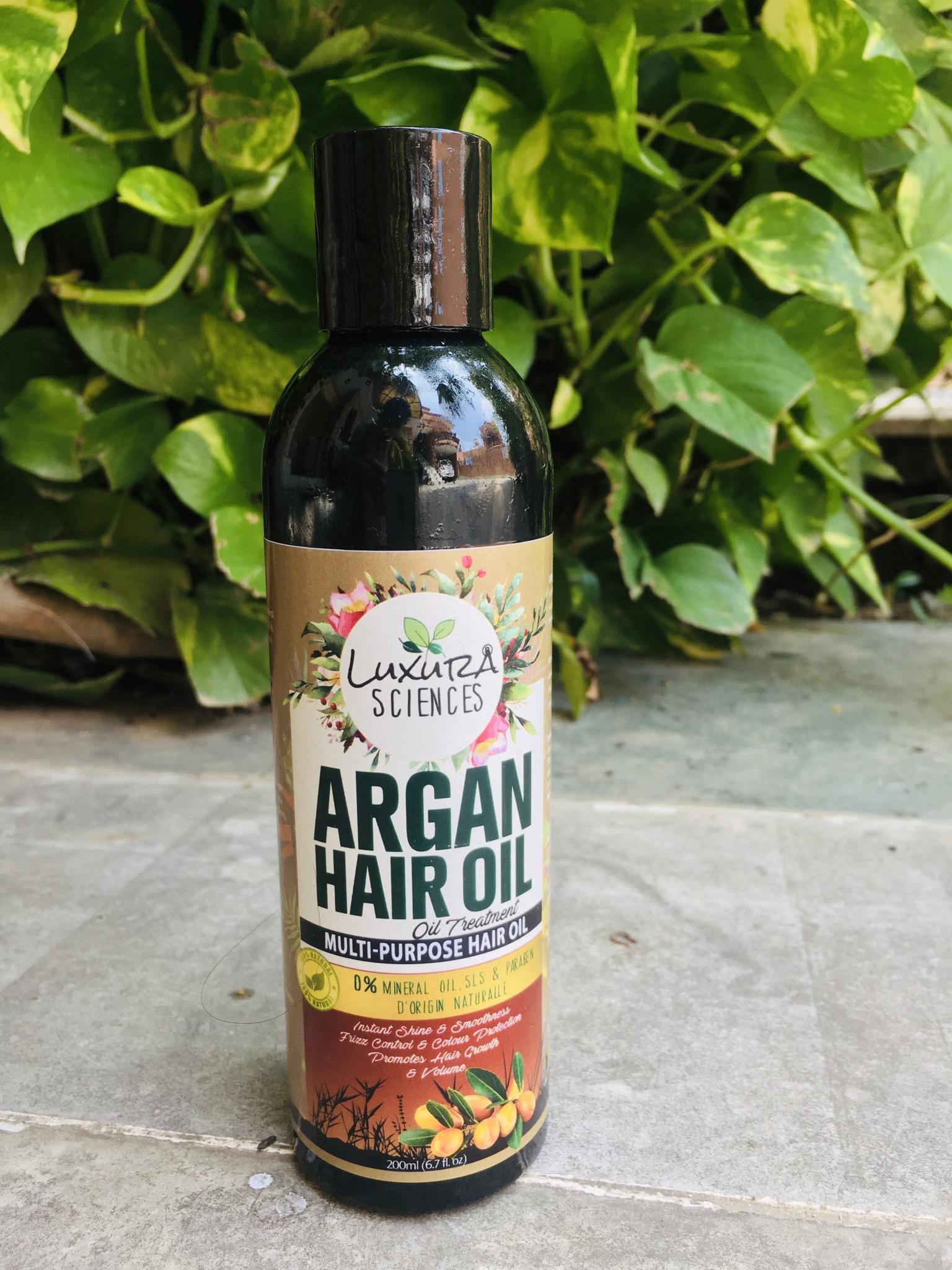 Luxura Sciences Argan Hair Oil 200 ml -Good hair oil-By seema11dhiman