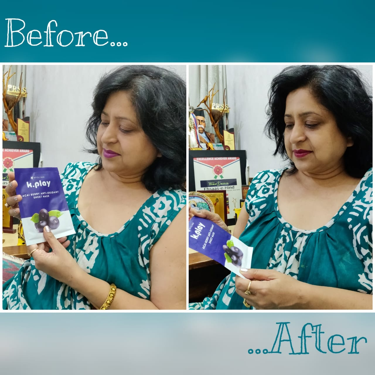 MyGlamm K.Play Acai Berry Anti-Oxidant Sheet Mask-For Instant soft and supple skin-By pmatia-1