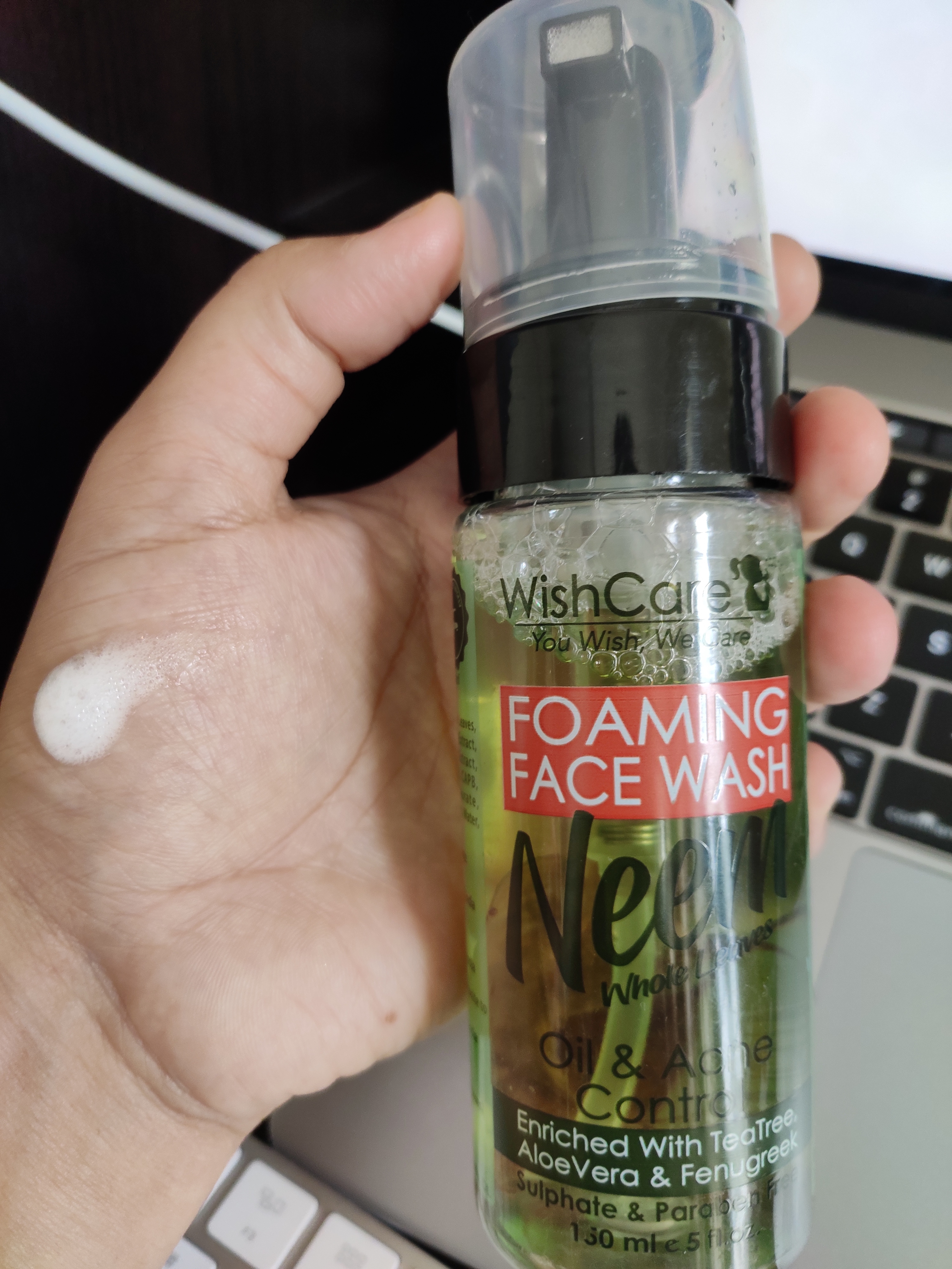 WishCare Foaming Neem Face Wash pic 2-Refreshing face wash-By bhawna_sharma