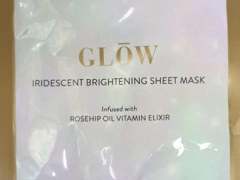 MyGlamm Glow Iridescent Brightening Sheet Mask Rosehip Extract Vitamin Elixir -Highly Recommended-By sneha_doshi