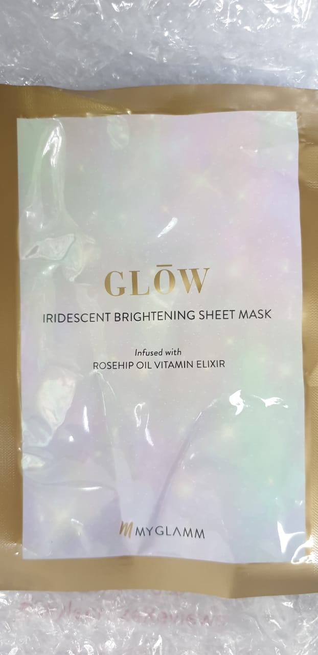 MyGlamm Glow Iridescent Brightening Sheet Mask Rosehip Extract Vitamin Elixir-Highly Recommended-By sneha_doshi