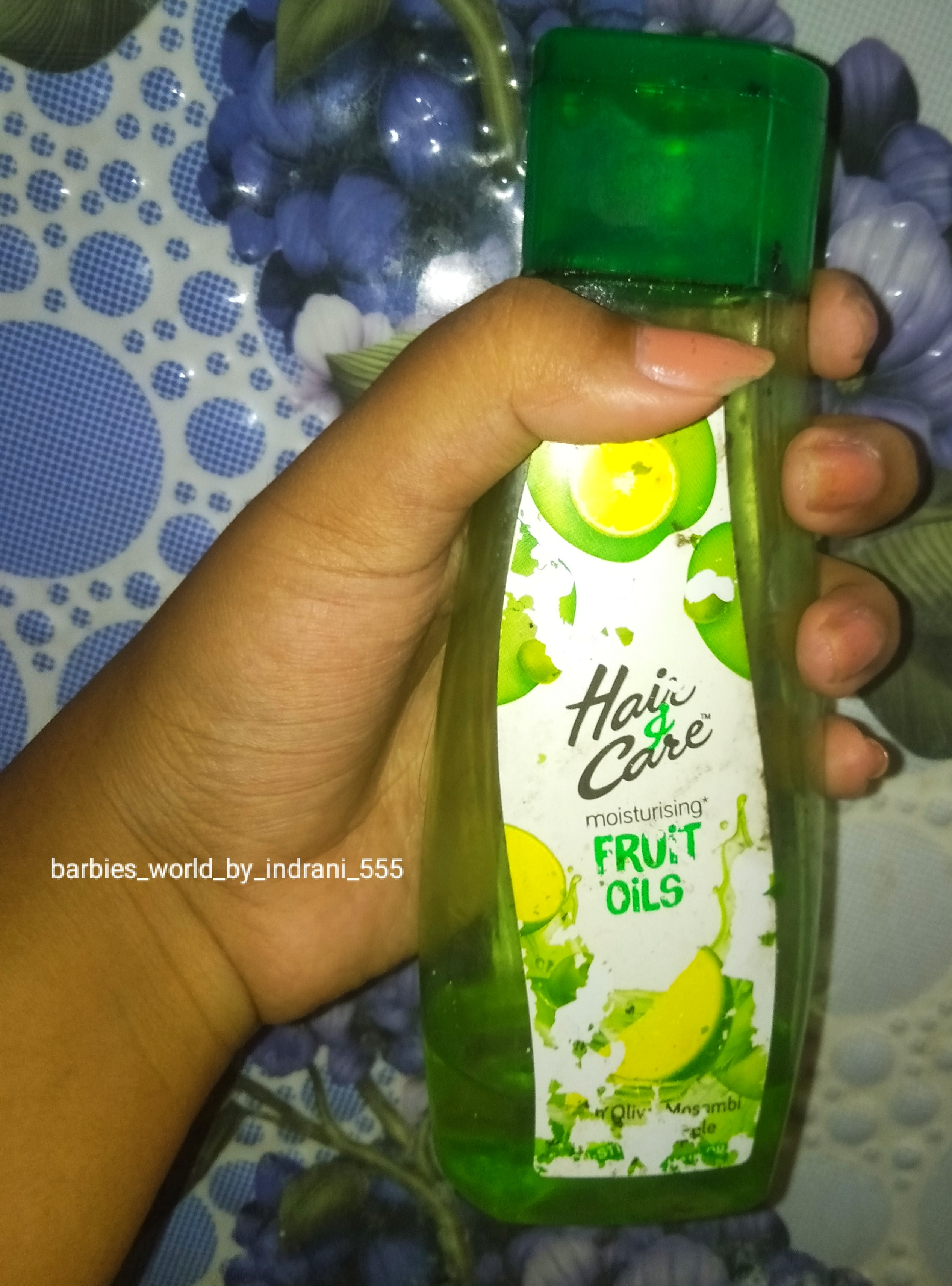 Hair & Care Fruit Oils Green-Best Light Weight hair oil-By indranireviews