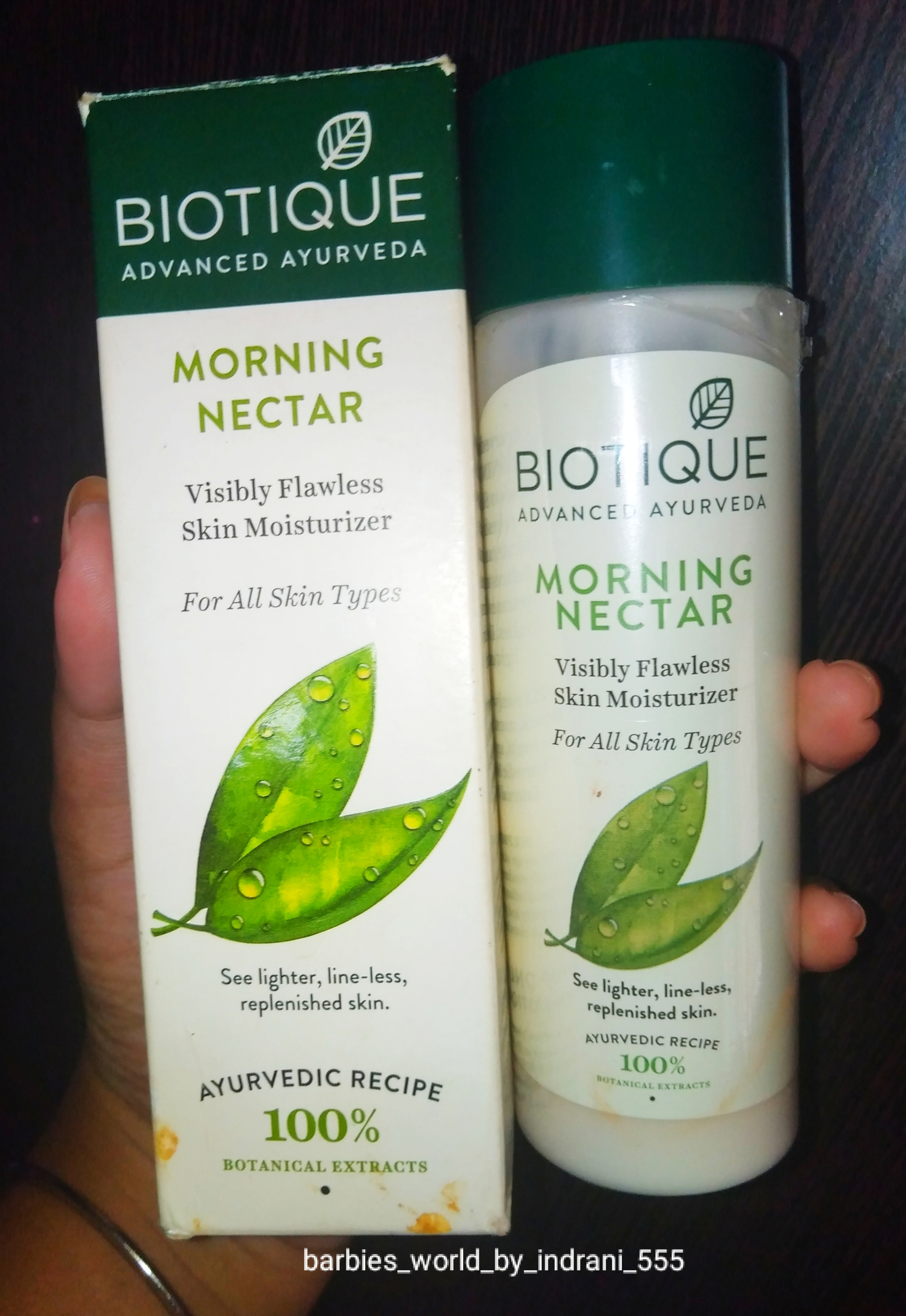Biotique Morning Nectar Visibly Flawless Skin Moisturizer -Best Skin Moisturizer For Summer-By indranireviews