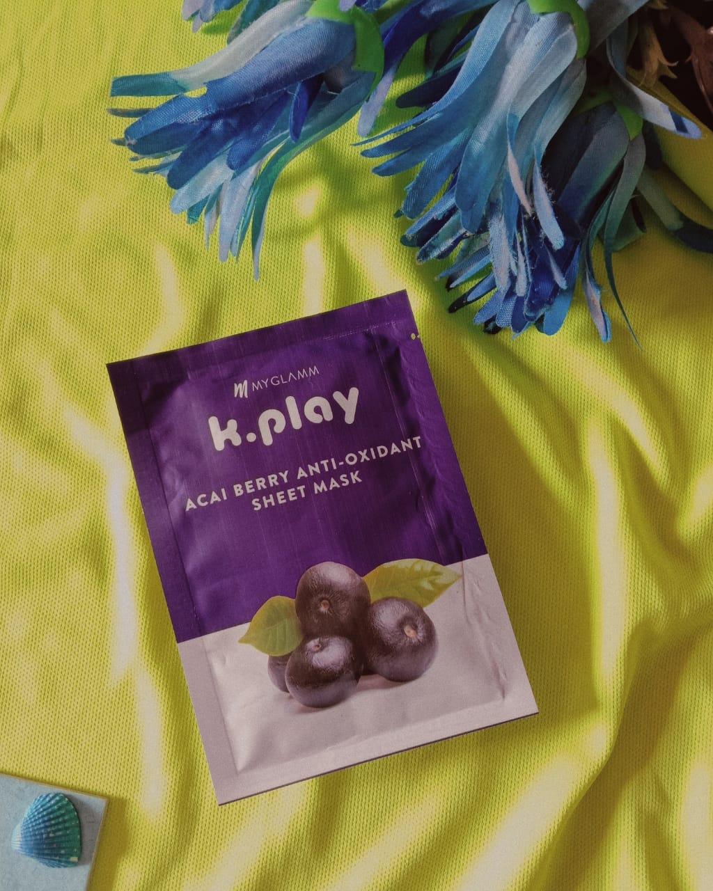 MyGlamm K.Play Acai Berry Anti-Oxidant Sheet Mask-Review-By sreya_ray
