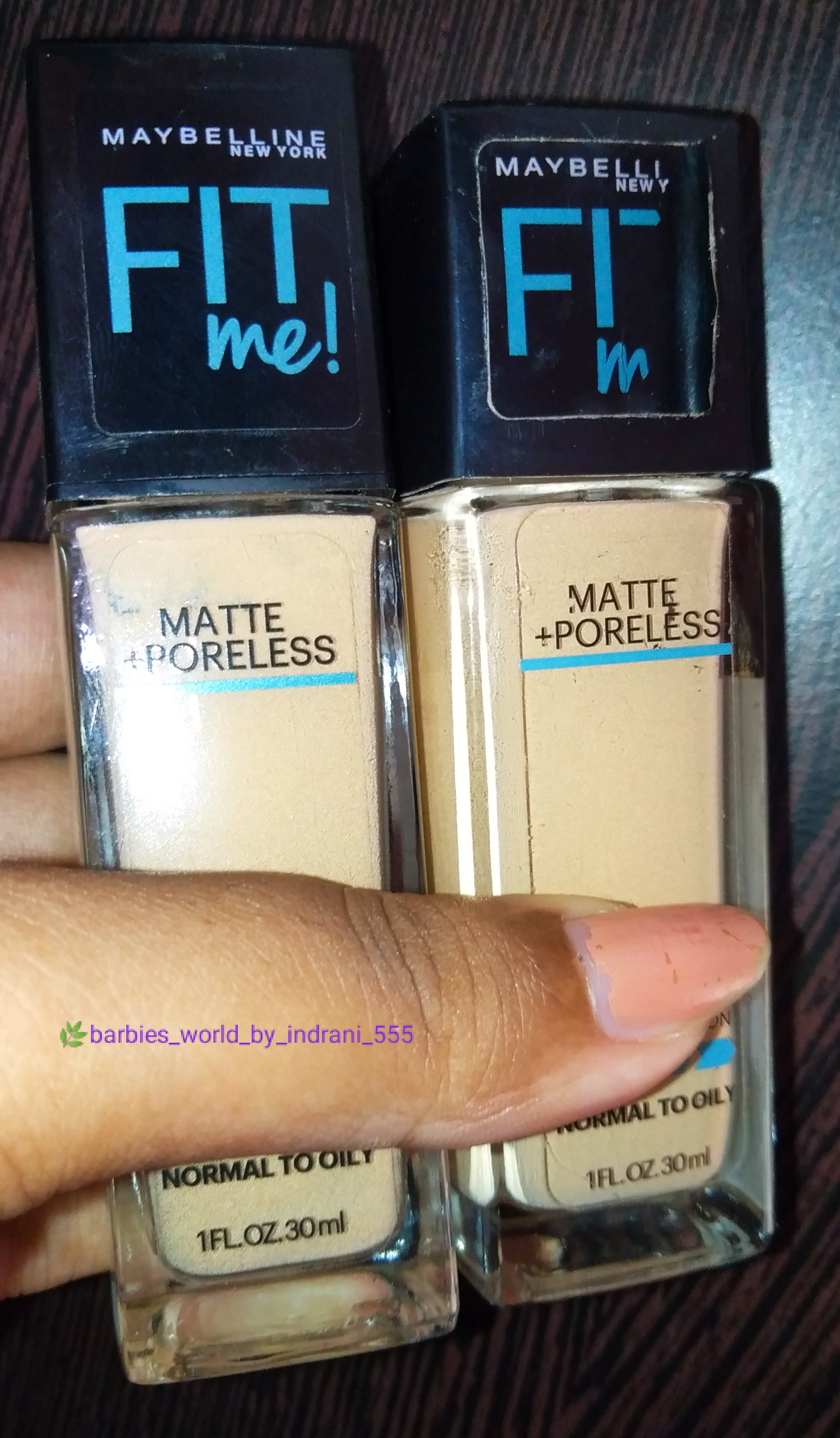 Maybelline New York‎ Fit Me Matte + Poreless Foundation -Best Matte Foundation-By indranireviews