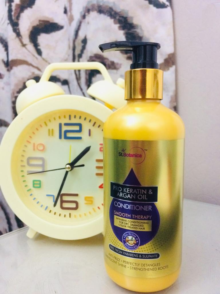St.Botanica Pro Keratin & Argan Oil Shampoo-Salon free keratin hair-By wardha_khan