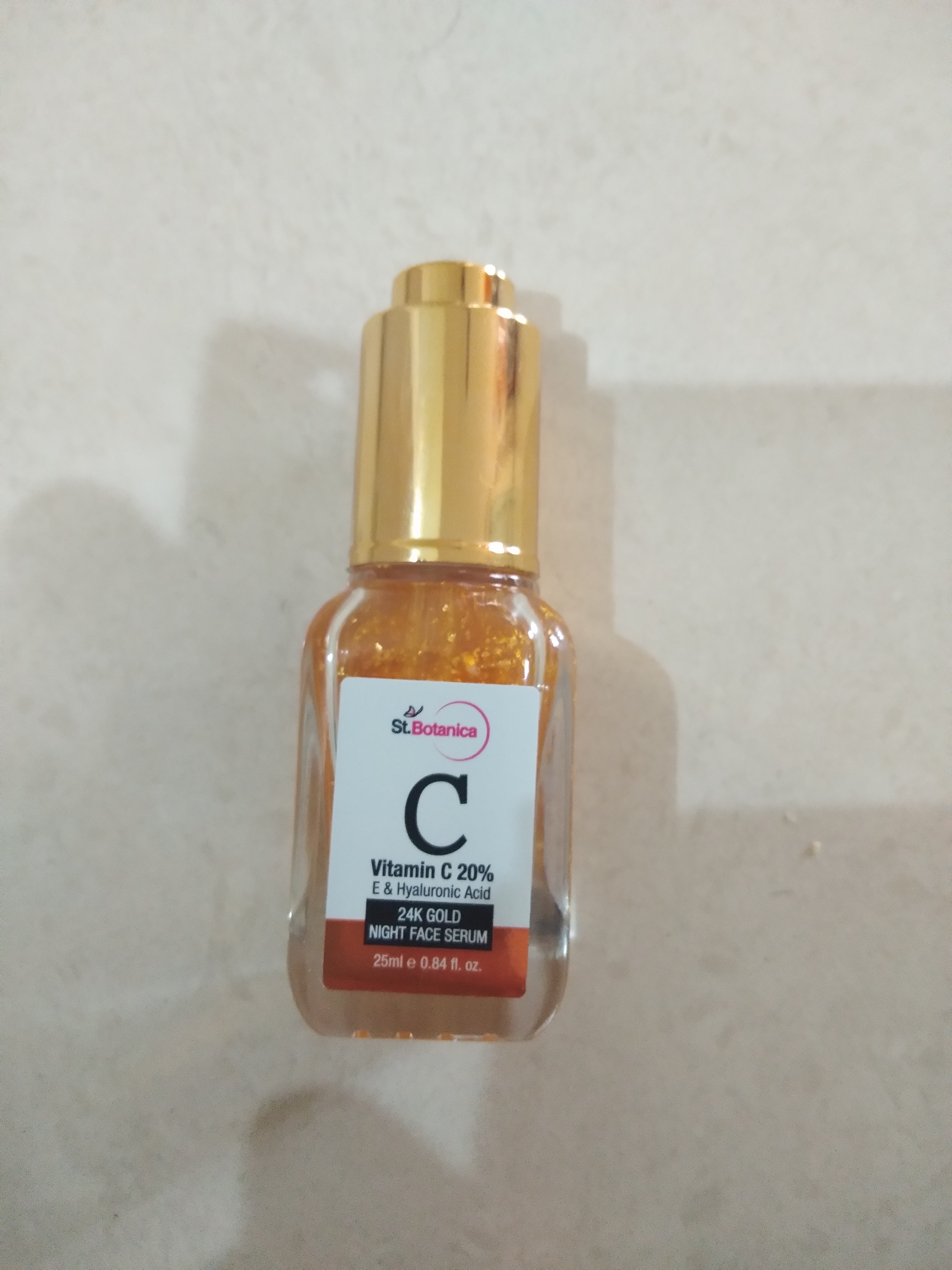 StBotanica Vitamin C 20%, E & Hyaluronic Acid 24k Gold Night Face Serum-Love it-By Nasreen