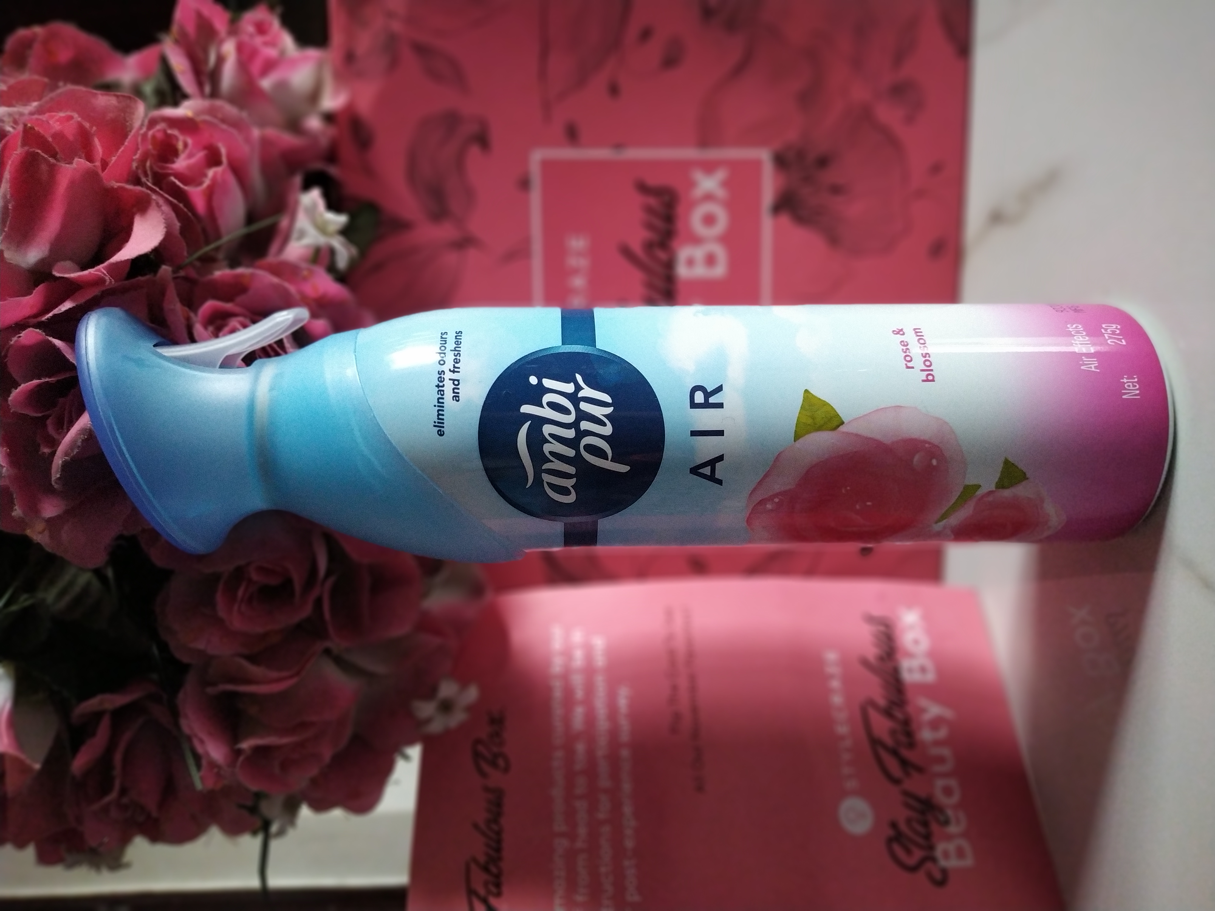 Ambi Pur Air Freshener – Rose and Blossom-FRESH AND POSITIVE-By pransasane