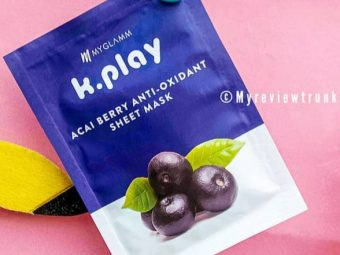 MyGlamm K.Play Acai Berry Anti-Oxidant Sheet Mask -Nice but small in size-By nidhii_singh