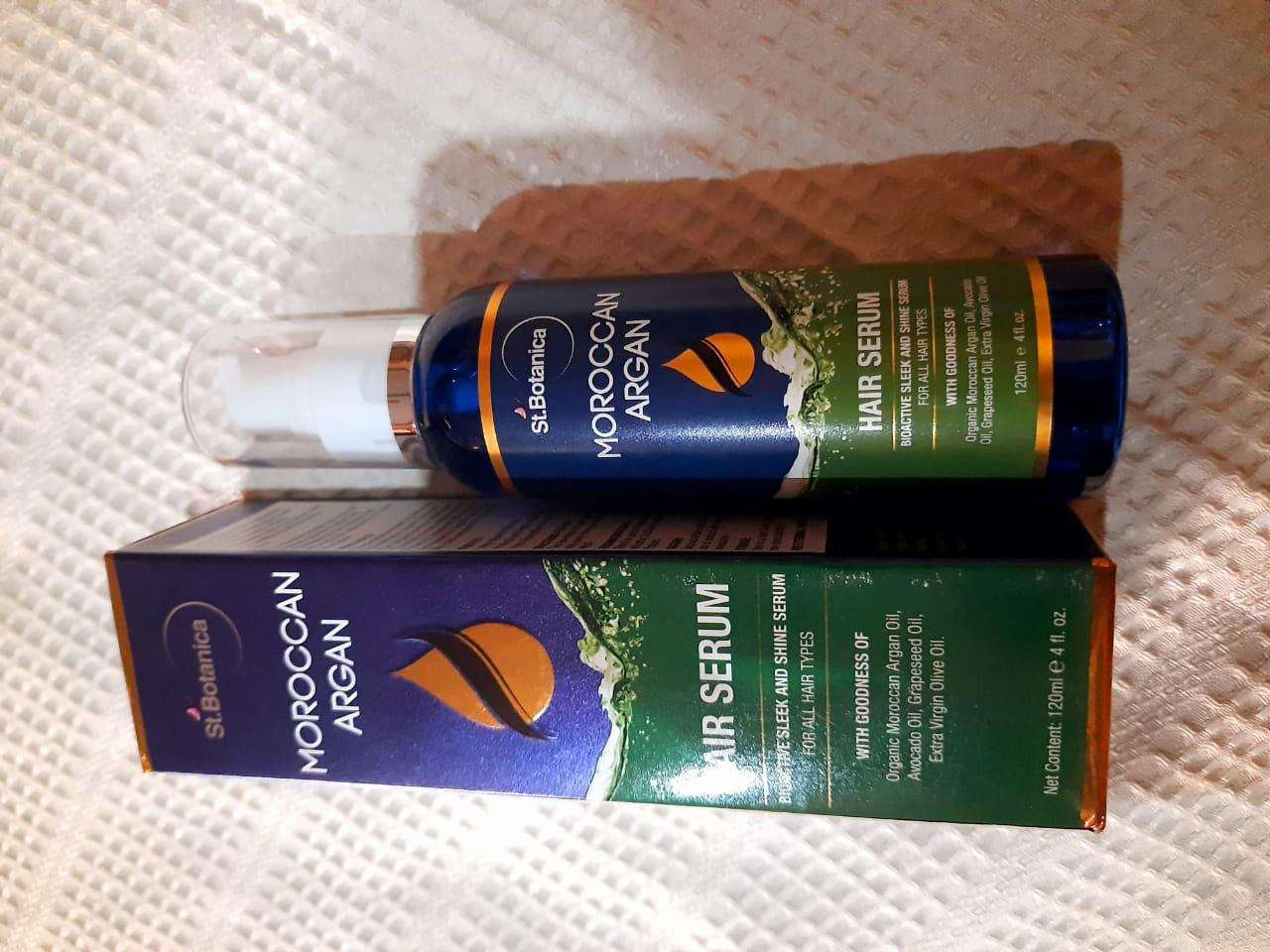 St.Botanica Moroccan Argan Hair Serum pic 2-sleek and shine hair serum for all hair types-By komal_pandita