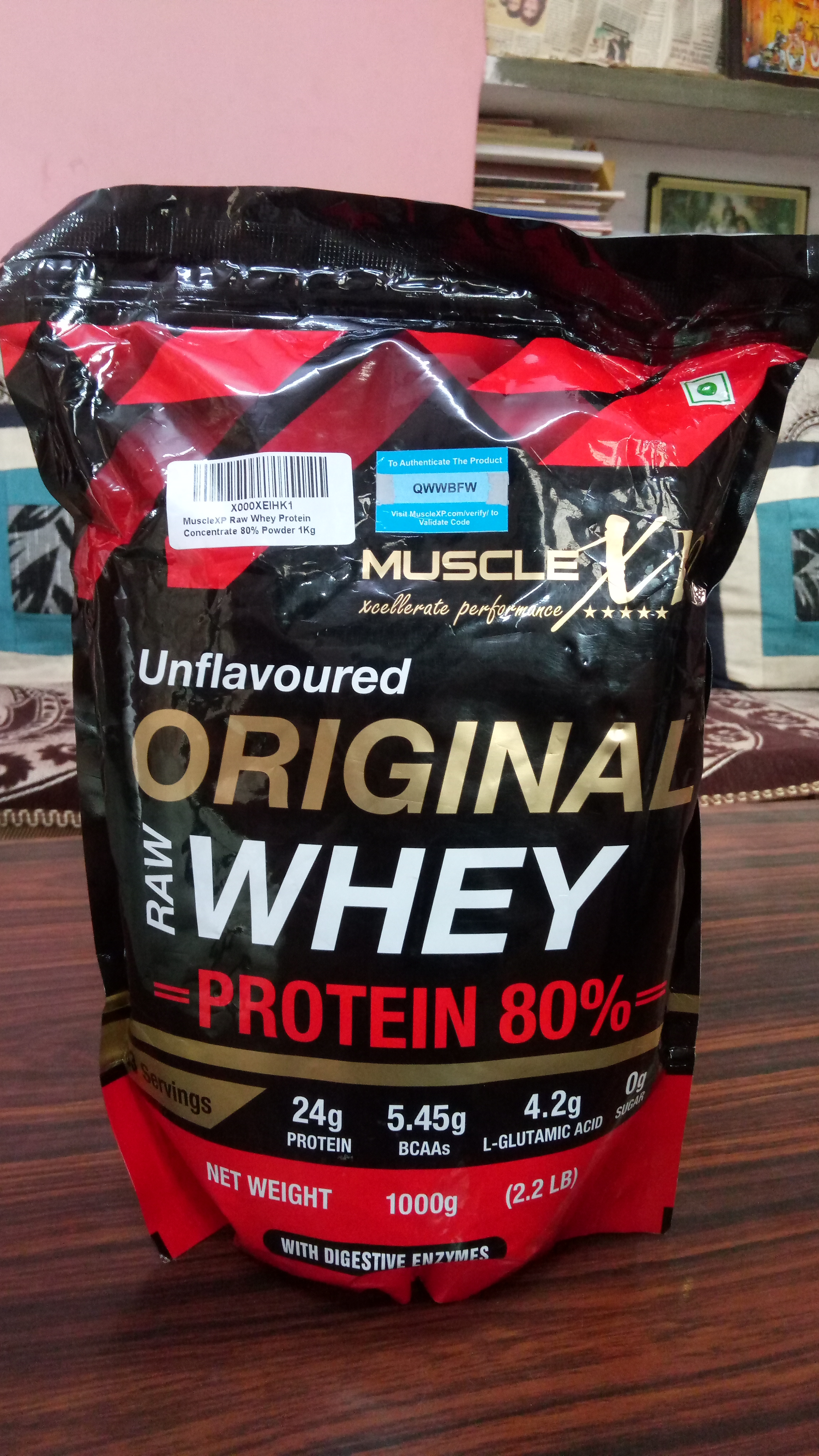 MuscleXP Raw Whey Protein 80% Powder Unflavoured -Awesome Whey Protein-By deepaksoni