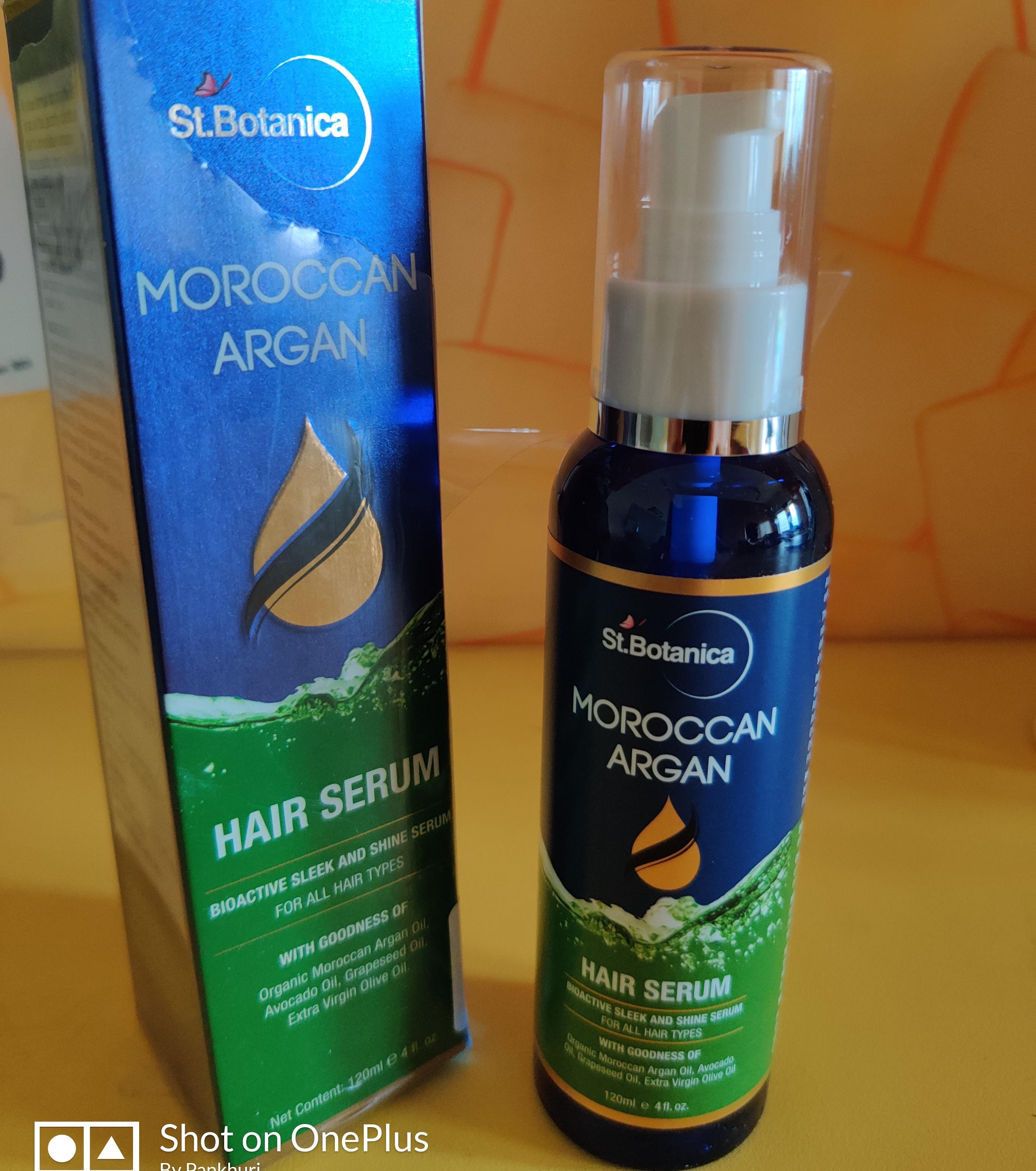 St.Botanica Moroccan Argan Hair Serum pic 1-Good for frizzy hair-By pankhuridhingra