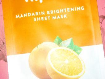 MyGlamm K.Play Mandarin Brightening Sheet Mask -Glowing sheet mask-By sriishti_i