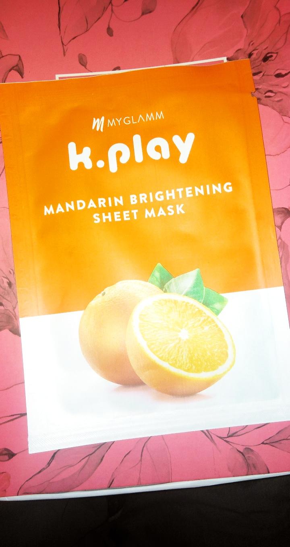 MyGlamm K.Play Mandarin Brightening Sheet Mask-Glowing sheet mask-By sriishti_i