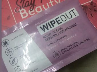 MyGlamm Wipeout Sanitizing Wipes pic 2-Germ Protector-By pinalchauhan