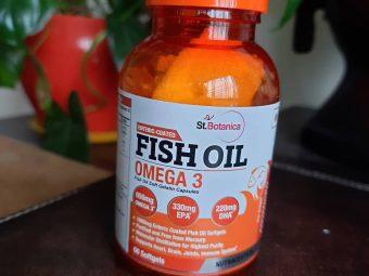 St.Botanica Salmon Fish Oil 1000mg; 300mg Omega-3 with 180mg EPA, 120mg DHA – 60 Enteric Coated Softgels pic 1-My health supplement.-By viv