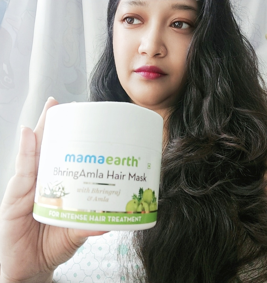 Mamaearth BhringAmla Hair Mask-Best for Dry damaged Hair-By twinklingtina-2
