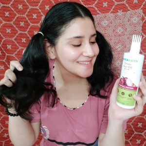 Mamaearth Onion Hair Oil (With Comb) For Hair Regrowth & Hair Fall Control with Redensyl -Loved this product-By neha_takuli