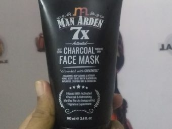 Man Arden 7X Activated Charcoal Face Mask pic 2-Good for oily to normal skin type-By hemantpant001