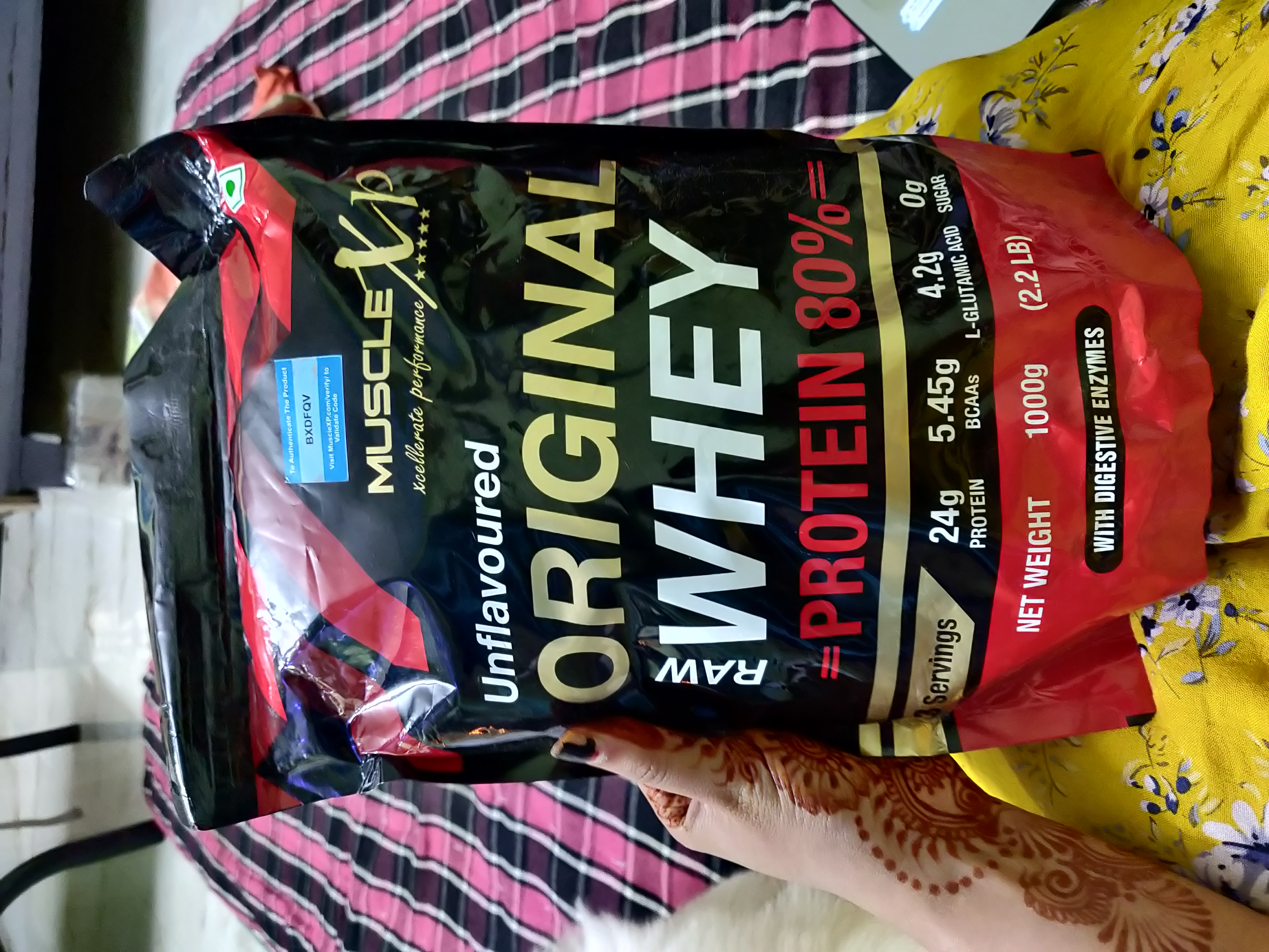 MuscleXP Raw Whey Protein 80% Powder Unflavoured-Perfect for beginners-By shivaniomray