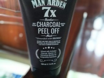 Man Arden 7X Activated Charcoal Face Mask pic 2-superb product-By yvssvijay