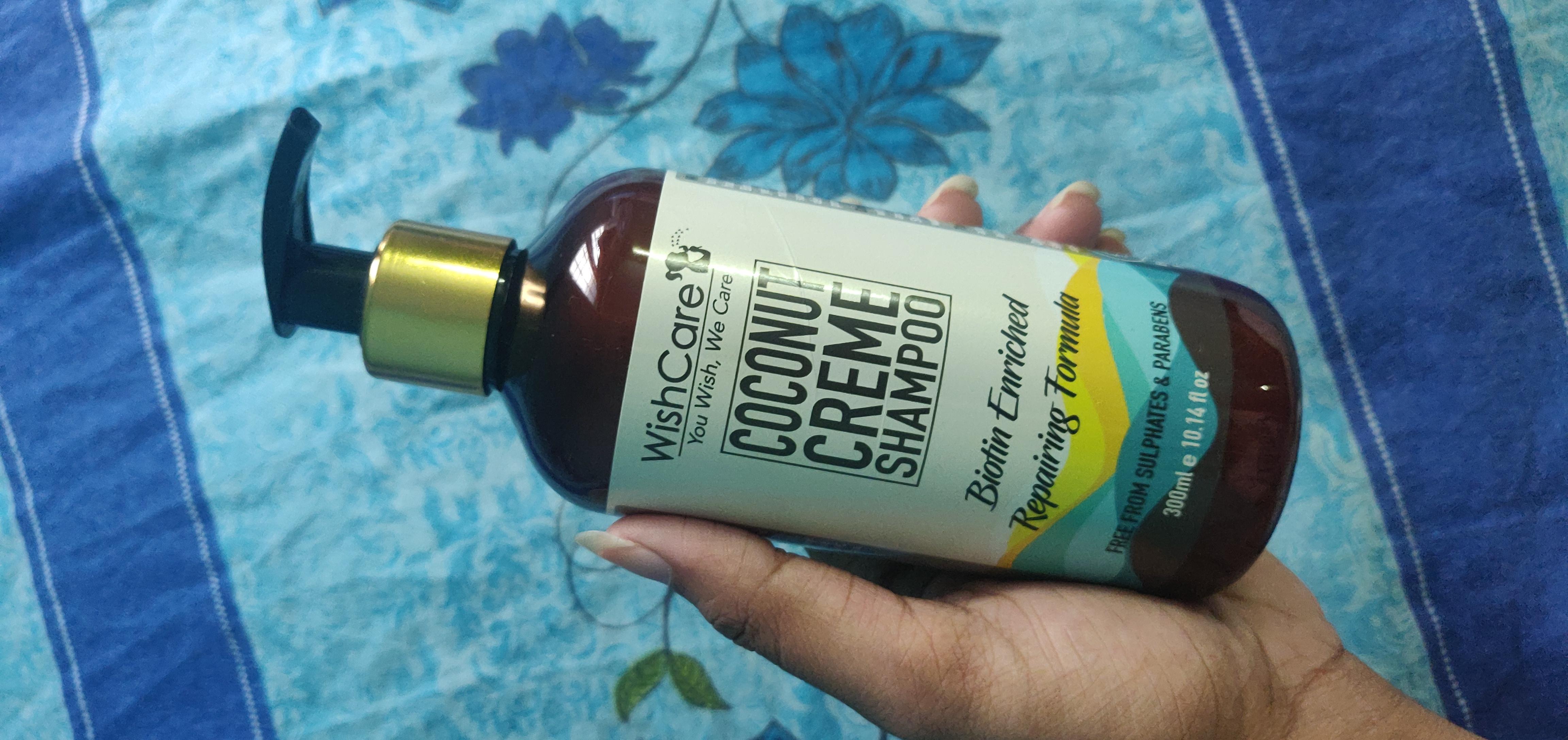 WishCare Coconut Creme Shampoo With Biotin-Mild and chemical free coconut & biotin shampoo-By reeni_padmaja-1