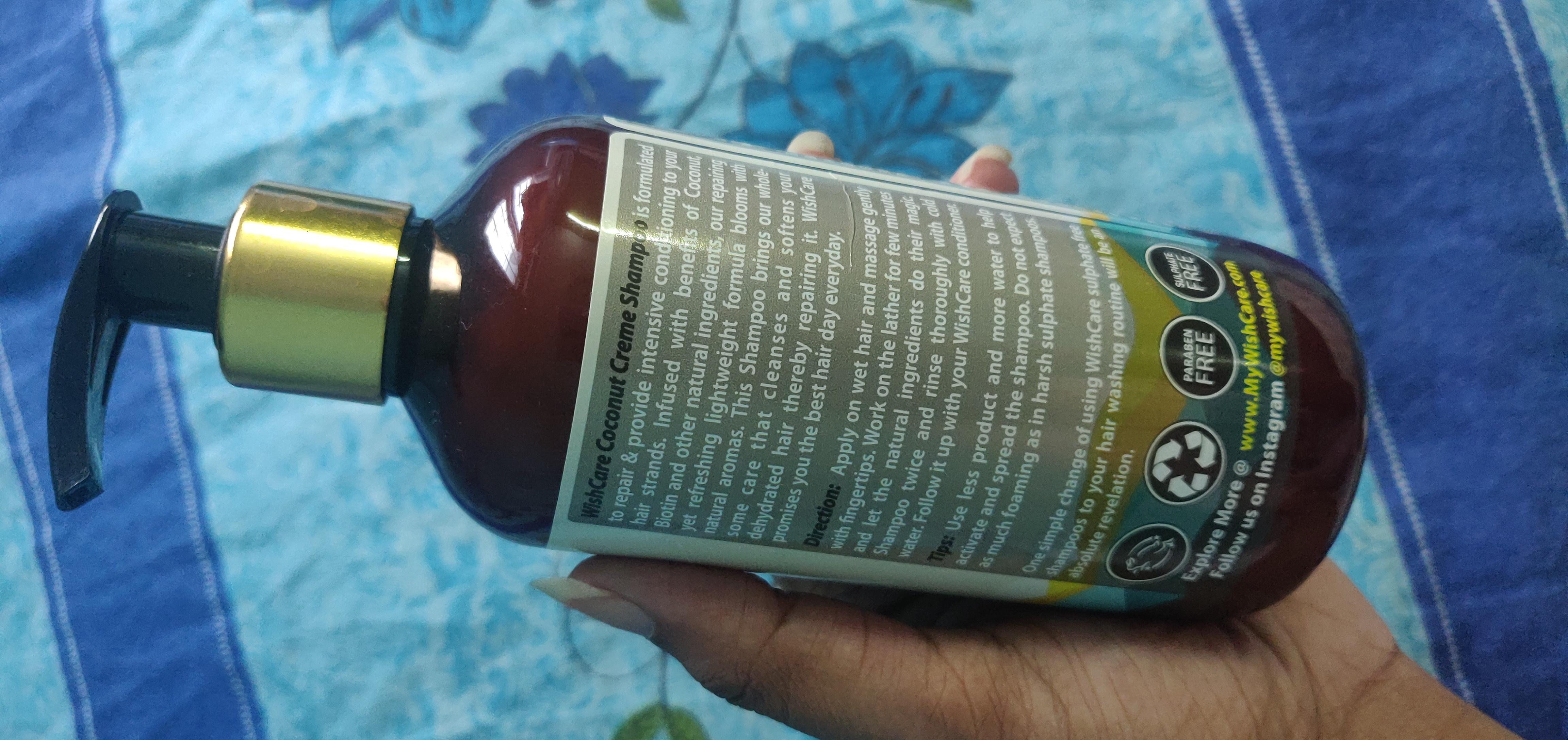 WishCare Coconut Creme Shampoo With Biotin-Mild and chemical free coconut & biotin shampoo-By reeni_padmaja-2