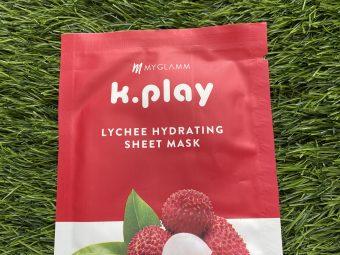 MyGlamm K.Play Lychee Hydrating Sheet Mask -Instant hydrating biodegradable Sheet Mask-By aditi_khandelwal