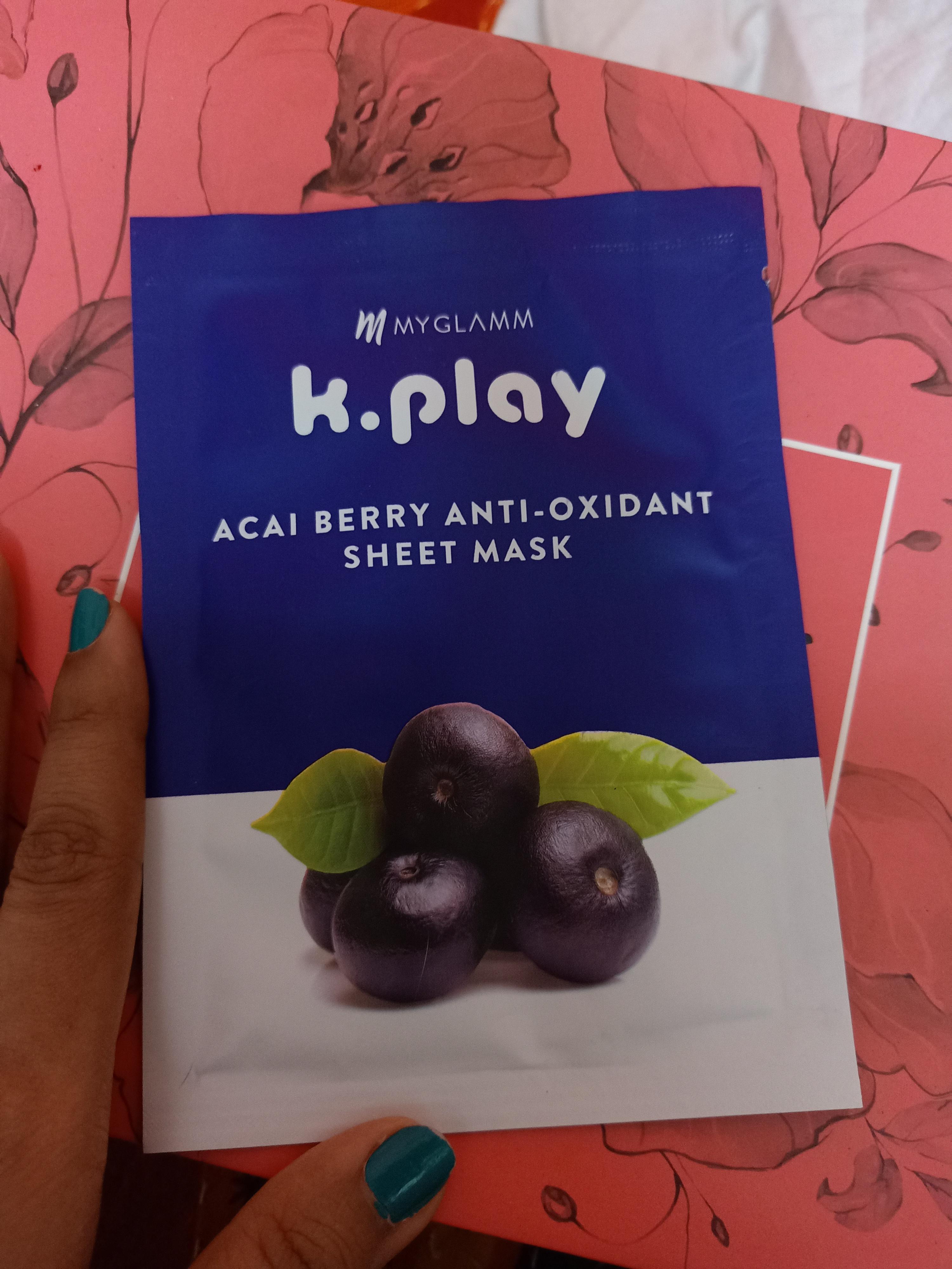MyGlamm K.Play Acai Berry Anti-Oxidant Sheet Mask-healthy and soft skin-By tulika_shaw