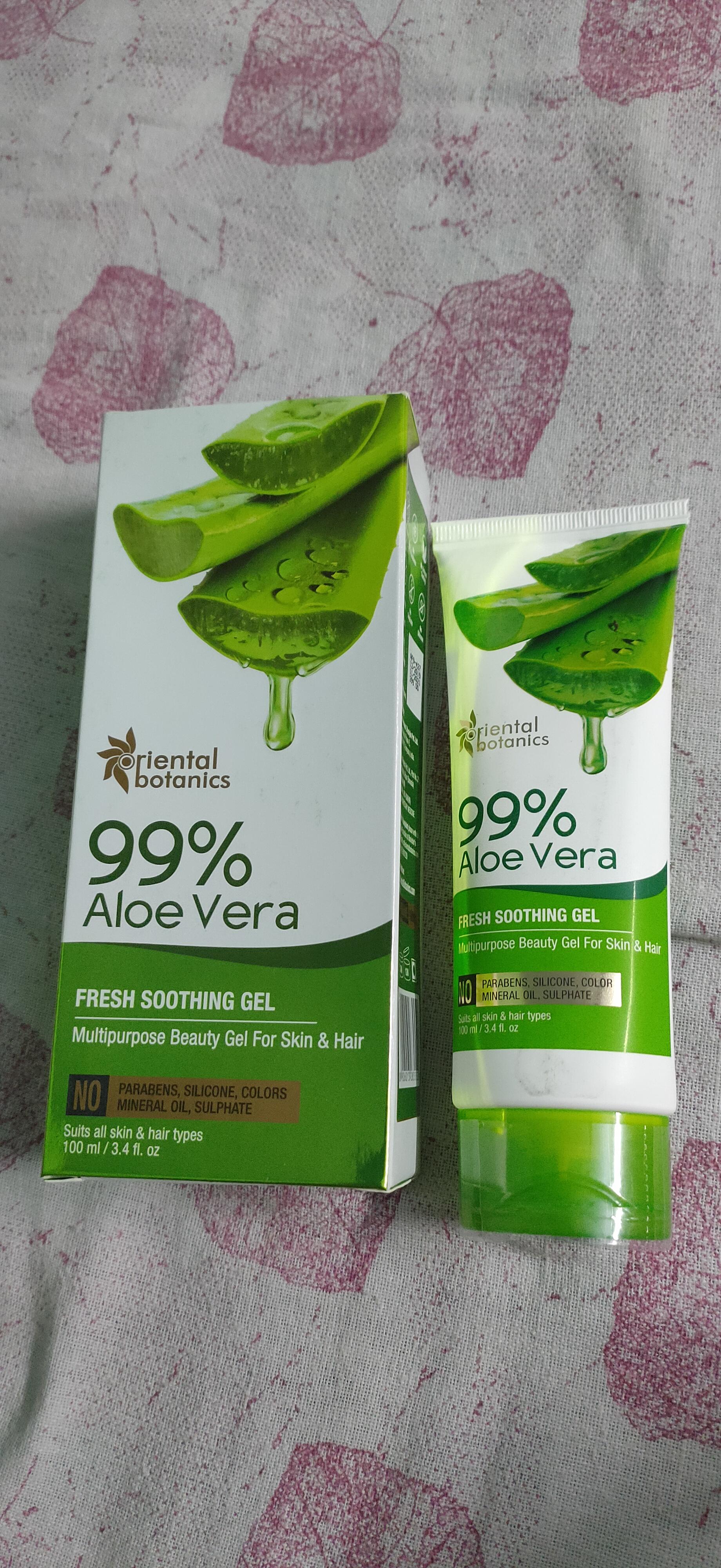 Oriental Botanics 99% Aloe Vera Fresh Soothing Gel For Skin & Hair-Best aleovera gel-By _mystcal_dimples_