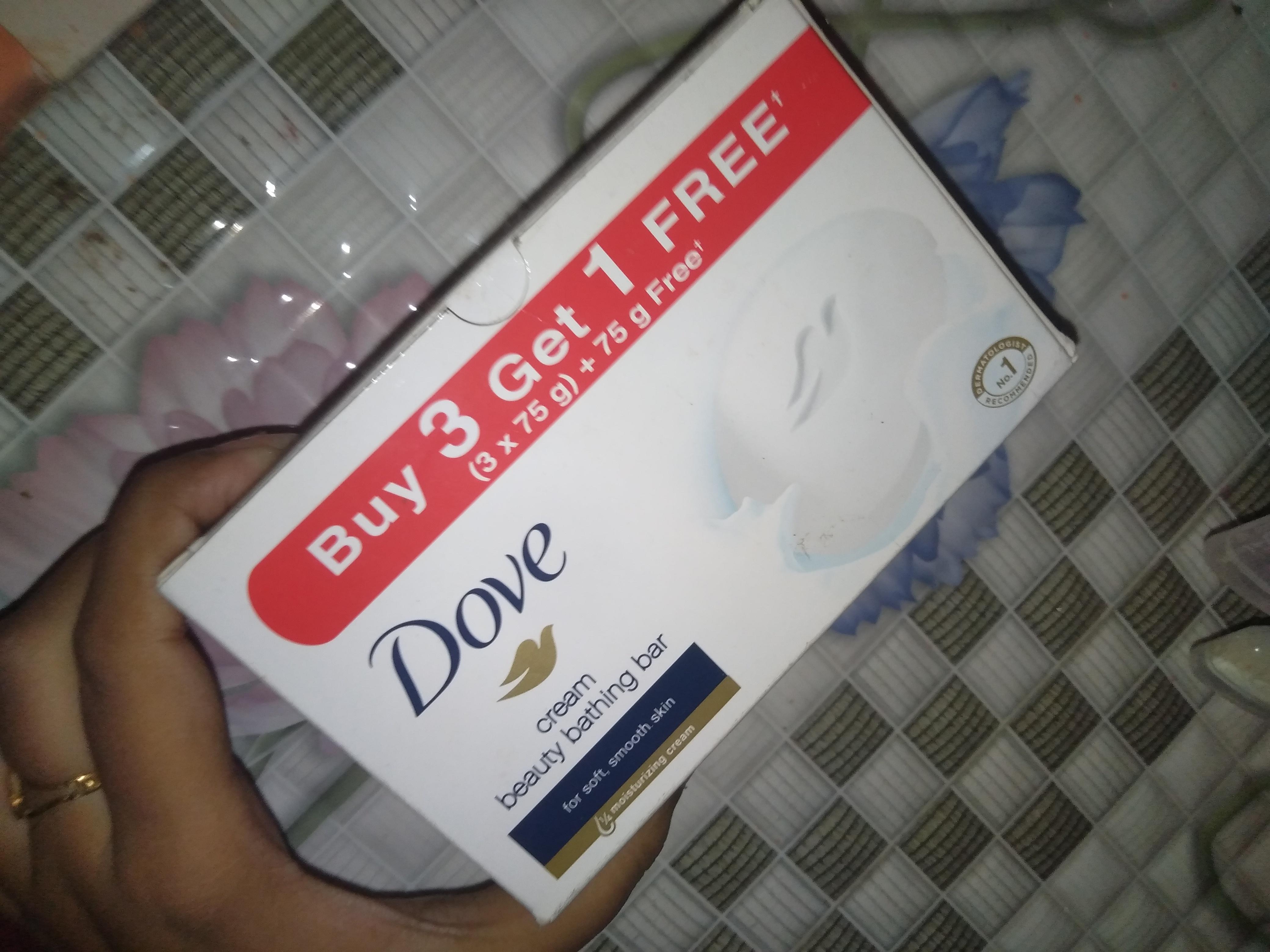 Dove Cream Beauty Bathing Bar-Creamy & Moisturizing-By indranireviews