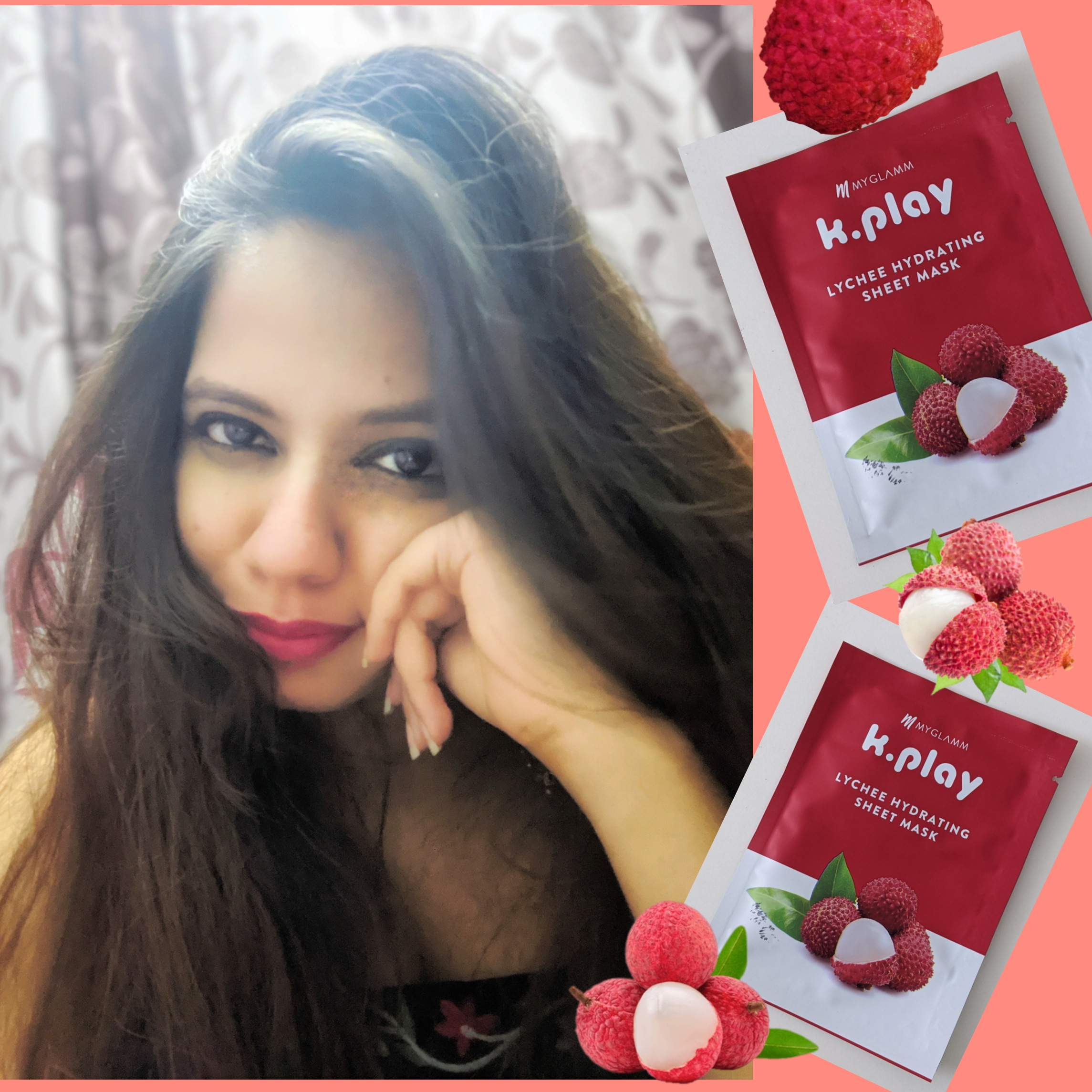MyGlamm K.Play Lychee Hydrating Sheet Mask -Soft and hydrated skin-By sithara