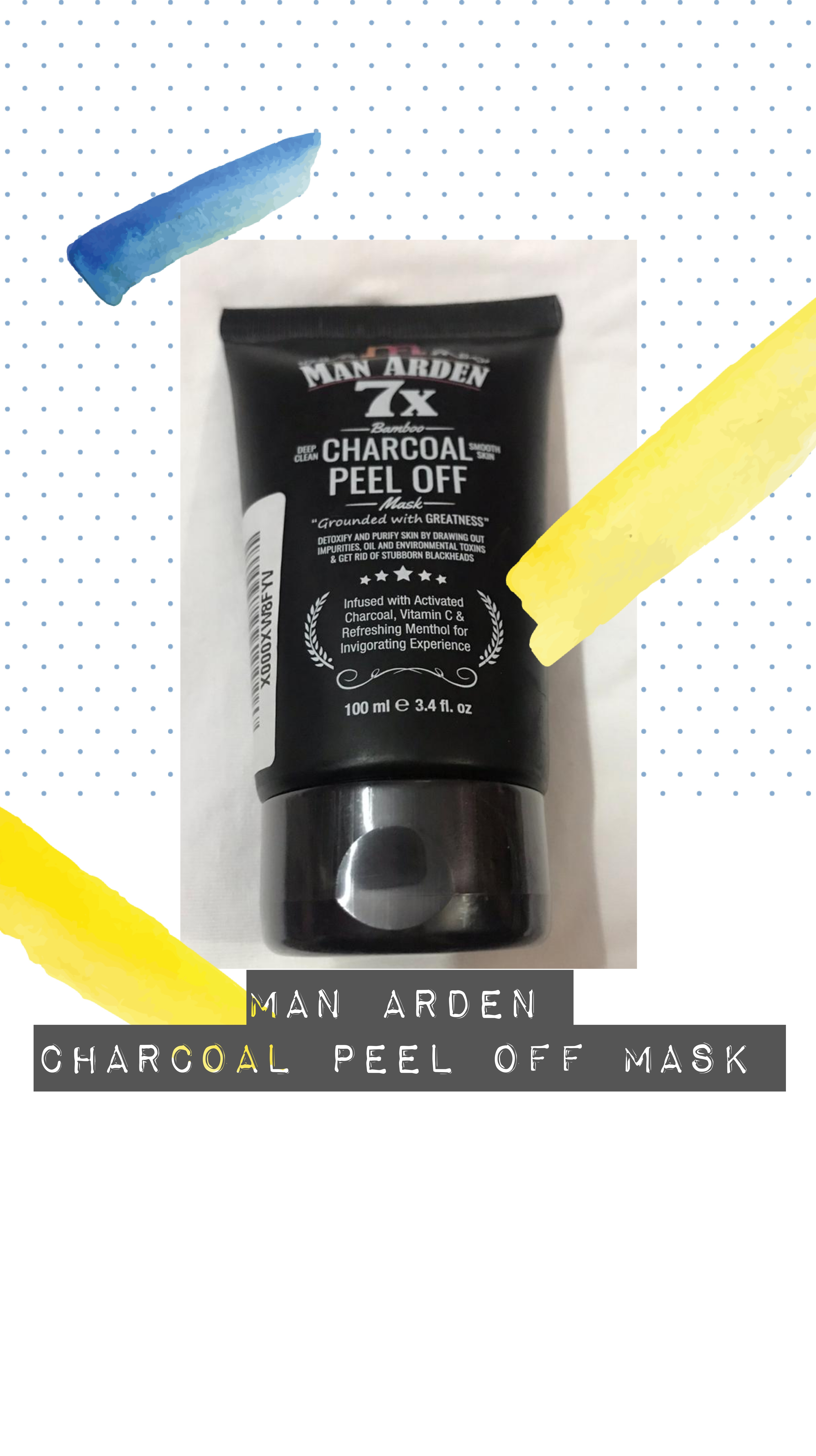 Man Arden 7X Activated Charcoal Peel Off Mask-Perfect peel off mask-By lifecareroutines