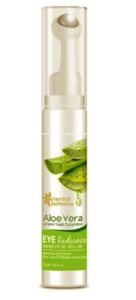Oriental Botanics Aloe Vera, Green Tea & Cucumber Under Eye Gel Roll-On-Good for Puffy eyes and Crows feet-By wordsmithkaur-2