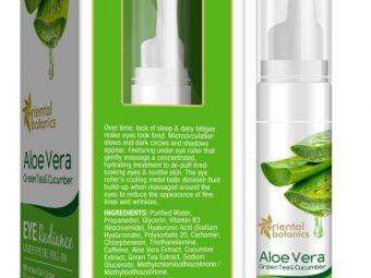 Oriental Botanics Aloe Vera, Green Tea & Cucumber Under Eye Gel Roll-On pic 1-Good for Puffy eyes and Crows feet-By wordsmithkaur