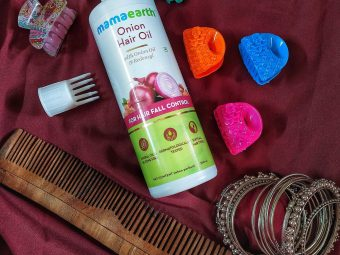 Mamaearth Onion Hair Oil (With Comb) For Hair Regrowth & Hair Fall Control with Redensyl -Onion hair oil-By the_foodielady