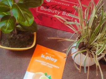 MyGlamm K.Play Mandarin Brightening Sheet Mask pic 3-My first experience with sheet mask-By laila_chakraborty_