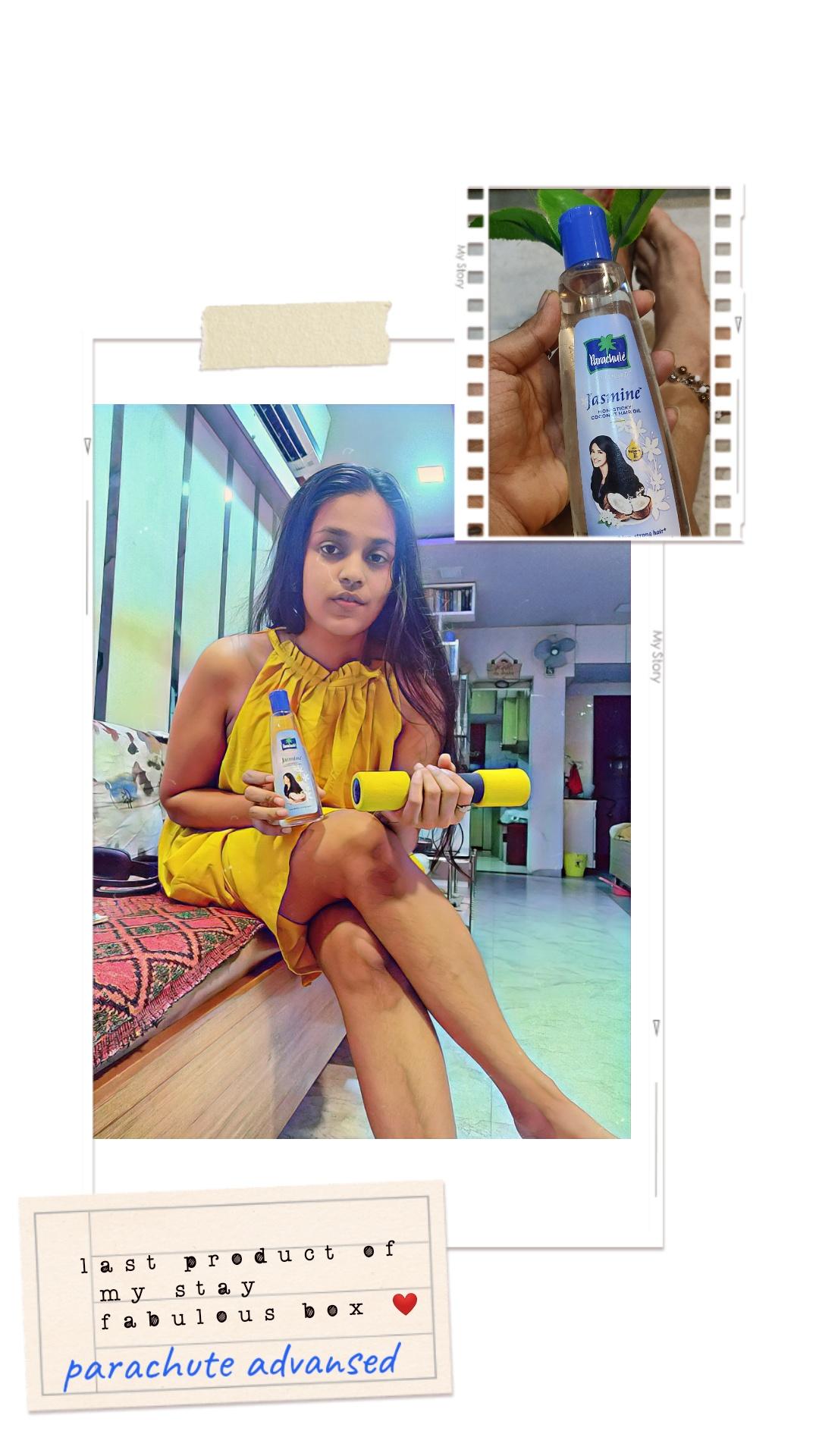 Parachute Advansed Jasmine Hair Oil-Stronger and shiny hair-By dhwani_dagha